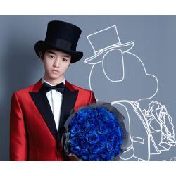 roseonly中文官網 王俊凱限量版甜心熊與特別款煥藍玫瑰