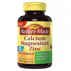Nature Made Calcium, Magnesium & Zinc, Tablets