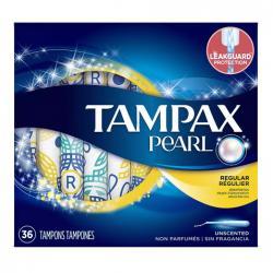 Tampax Pearl Tampons Unscented, Regular
