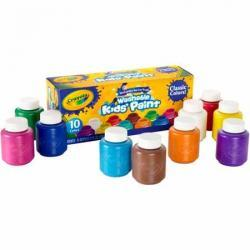 Crayola 10 count Washable Kids Paint in 2 oz. bottles