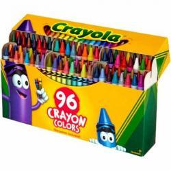 Crayola 96 count Crayons with Built-in Sharpener