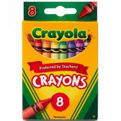 Crayola Classic Crayons 8 count in Primary colors