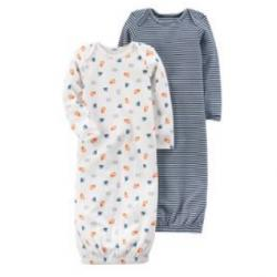 2-Pack Certified Organic Sleep Gowns