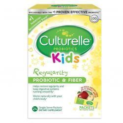 Culturelle Kids Regularity Probiotic & Fiber Dietary Supplement | Helps Restore Regularity & Maint