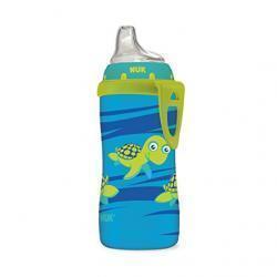 NUK Blue Turtle Silicone Spout Active Cup, 10-Ounce