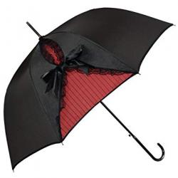 Kung Fu Smith Vintage Parasol Umbrella for Women, Gothic Windproof Lace Umbrella