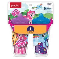 Playtex Sipsters Stage 3 My Little Pony Spill-Proof, Leak-Proof, Break-Proof Insulated Spout Sippy