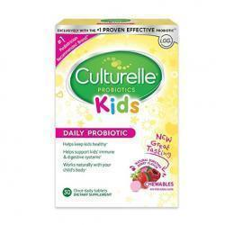 Culturelle Kids Chewables Daily Probiotic Formula, One Per Day Dietary Supplement, Contains 100% N