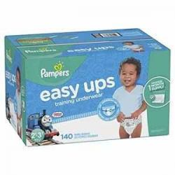 Pampers Easy Ups男宝宝训练裤 Size 4 (2T-3T), 140片