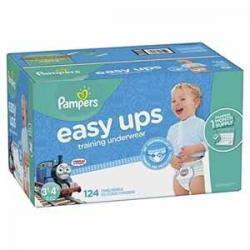 Pampers Easy Ups男宝宝训练裤 Size 5 (3T-4T), 124片