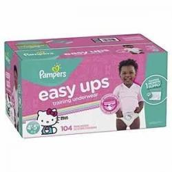 Pampers Easy Ups女宝宝训练裤  Size 6 (4T-5T), 104片