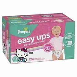 Pampers Easy Ups女宝宝训练裤  Size 5 (3T-4T), 124片
