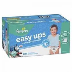 Pampers Easy Ups男宝宝训练裤 Size 6 (4T-5T), 104片