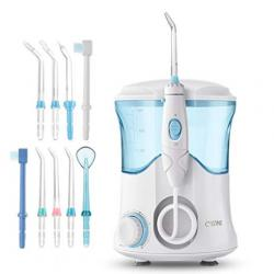 Cozzine Water Dental Flosser 600ml, Large Water Capacity Leak-Proof Electric Quiet Design