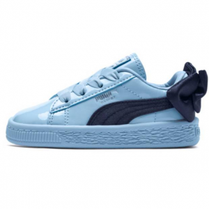 PUMA Basket Bow Patent Kid's Sneakers