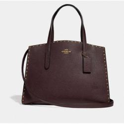 Charlie Carryall With Rivets Oxblood/brass