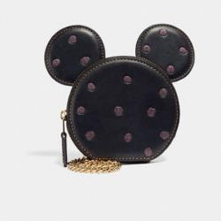 Boxed Minnie Mouse Coin Case Black/light Gold