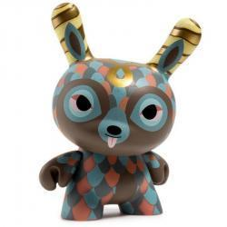 """THE CURLY HORNED DUNNYLOPE 5"""" DUNNY ART FIGURE BY HORRIBLE ADORABLES"""