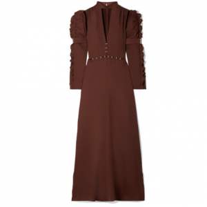 CHLOÉ Embellished cutout crepe gown