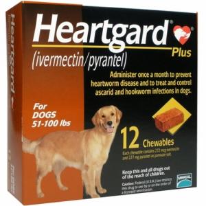 Heartgard PLUS for Dogs - 51-100 lbs (6 CHEWS)