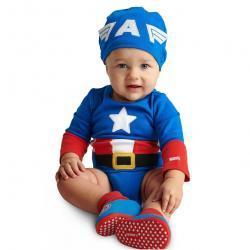 Captain America Costume Bodysuit for Baby