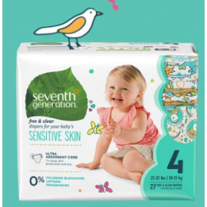 Extra 30% Off Seventh Generation Baby Diapers & More @ Amazon