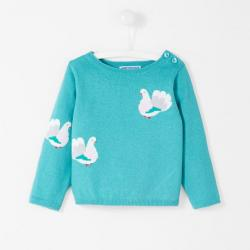 BIRD PRINT SWEATER