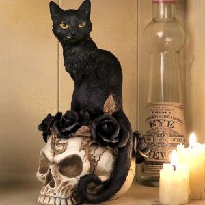 Grimalkin's Ghost Desk Ornament Halloween Decor