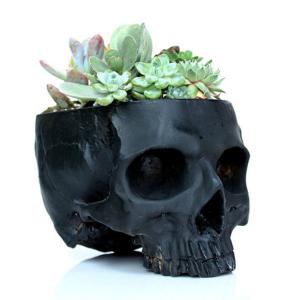 Cactus Skull Planter Eye-Catching Statement Piece