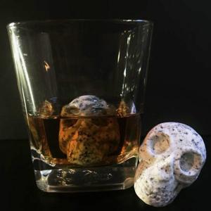 WHISKEY BONES Hand Carved Whiskey Stones - Set of 2