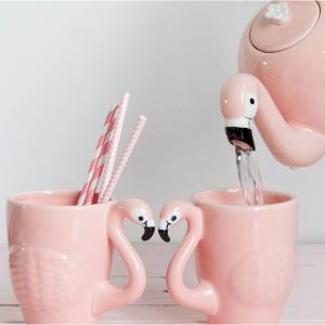 Flamingo Teapot Set