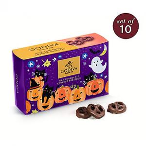 Halloween Milk Chocolate Covered Mini Pretzels, Set of 10, 2.5 oz Each