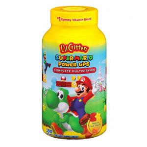 Lil Critters Super Mario Brothers Complete Multivitamin Gummies, 190 Count