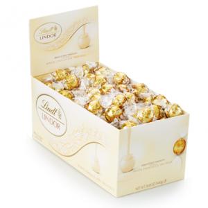 White LINDOR Truffles 120-pc Box