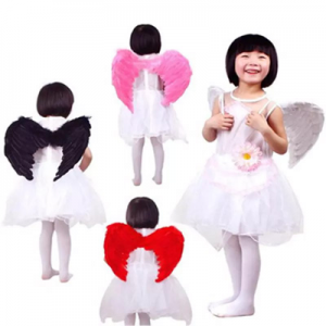 45 * 35CM Angel Feather Wings Costume Party Cosplay Butterfly Style Xmas for Kids (5-8 Years Old)