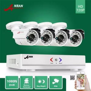 ANRAN Surveillance HDMI 4CH AHD 1080N DVR HD Day Night 1800TVL 24IR Waterproof Outdoor Camera CCTV