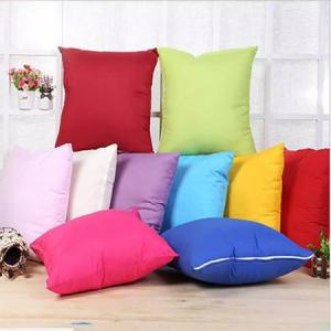 45 * 45CM Home Sofa Throw Pillowcase Pure Color Polyester White Pillow Cover Cushion Cover Decor P