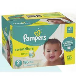 Pampers Swaddlers 尿不湿2号 186片