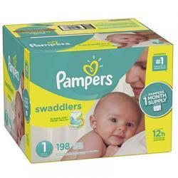Pampers Swaddlers 尿不湿1号 198片