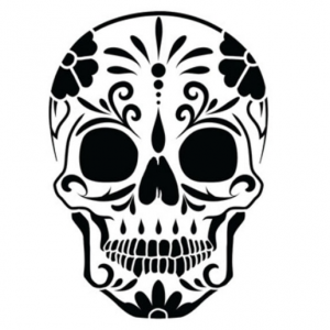 Xylose Tattoo Day of the Dead Skull