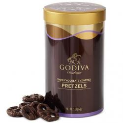 Godiva  Dark Chocolate Pretzel Tin