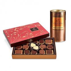 Godiva Milk Chocolate Hot Cocoa & Chocolate Biscuit Gift Set