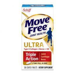 Schiff Move Free Ultra Triple Action with UCII, Coated Tablets30.0 ea