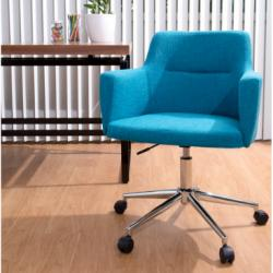 Andrew Contemporary Adjustable Office Chair, Citrus Green, Teal