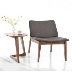 Flint Modern Wooden End Table, Walnut