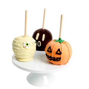 DYLAN'S CANDY BAR BELGIAN CHOCOLATE-COVERED HALLOWEEN CARAMEL APPLES