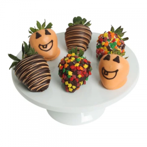 DYLAN'S CANDY BAR CHOCOLATE-DIPPED HALLOWEEN STRAWBERRIES - SIX