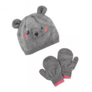 Bear Hat & Mitten Set