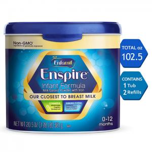 Enfamil Enspire Infant Formula - Our Closest to Breast Milk - Reusable Powder Tub & Refills, 102.5