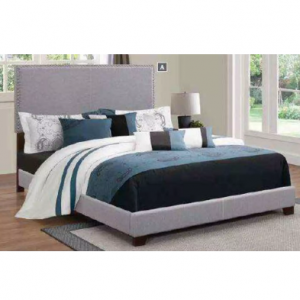 Boyd Smoke & Cappuccino Twin Upholstered Bed